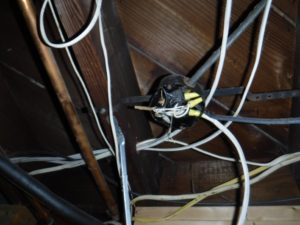 improperly installed electrical wire to junction boxes  ""