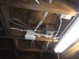 Improperly Installed Electrical Wire To Junction Boxes