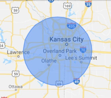 Kansas City Residential Electrician Coverage Map