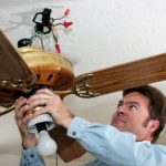Residential ceiling fan installation is best done by professionals like JMC Electric.