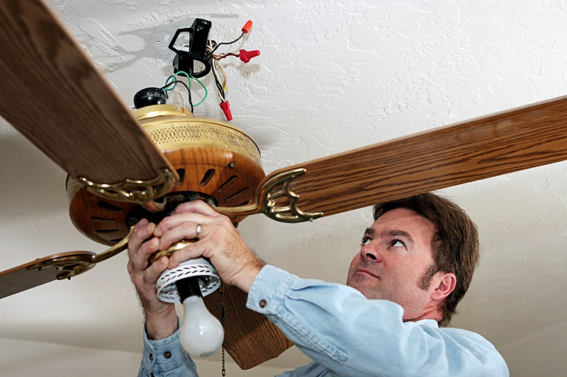 Residential ceiling fan installation Kansas City is best done by professionals like JMC Electric.