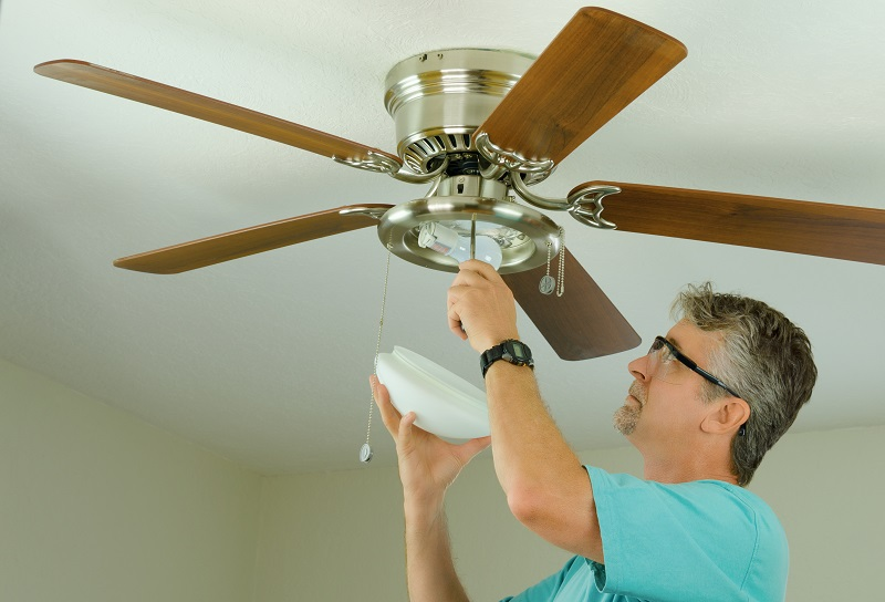 Residential ceiling fan installation is done professional by JMC Electric.