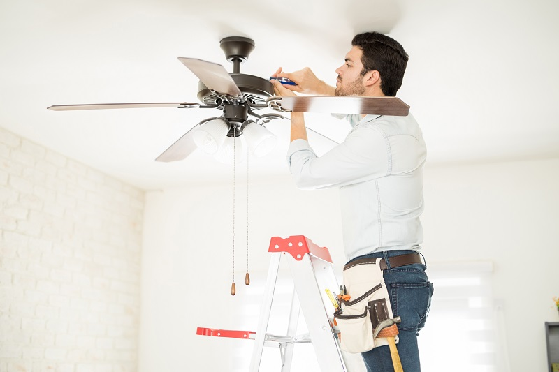 Residential ceiling fan installation from JMC Electric in Kansas City makes sense if you want to run your air conditioner less this summer.