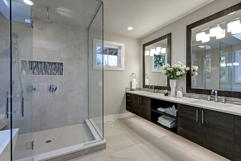 Residential local electricians in Kansas City at JMC Electric are here to help you choose and install the best outlet and lighting options for your bathroom remodel.