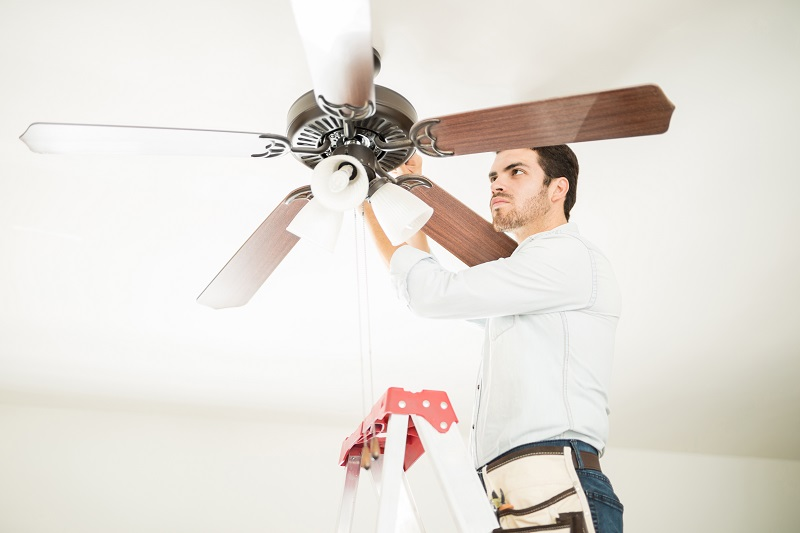 Ceiling fan installation in Kansas City is best done by professionals like JMC Electric.