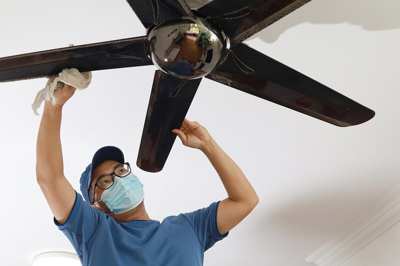 Residential ceiling fan installation in Kansas City from JMC Electric can save you money by allowing you to run your air conditioner less this summer.